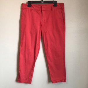 Kut from the Kloth coral capri pants size 10
